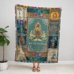 Yoga Namaste Mandala Style 405 Fleece Blanket v1