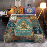 Yoga Namaste Mandala Style 405 Quilt Bed Set
