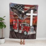 Jesus American Eagle Trucker 429 Fleece Blanket