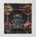 Proud Trucker 430 Quilt Blanket