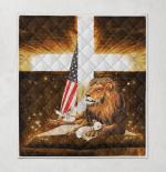 Lion Cross Lamb American 431 Quilt Blanket