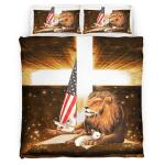 Lion Cross Lamb American 431 Bedding set