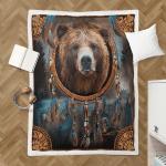 Native American Bear 426 Sherpa Blanket