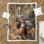 Beautiful Deer 427 Sherpa Blanket