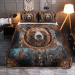 Native American Bear 426 Quilt Bed Set