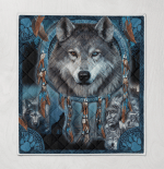 Native American Wolf 432 Quilt Blanket