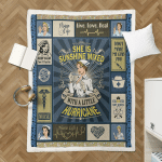 Nurse, She Is Sunshine Mixed 434 Sherpa Blanket