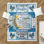 Mom To Daughter, With Brave Wings She Flies, Butterfly 053 Sherpa Blanket