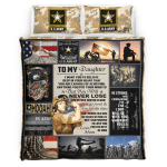 To my Daughter U.S.Army 438 Bedding set
