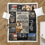 To my Daughter U.S.Army 438 Sherpa Blanket