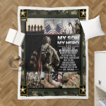 My Son, My Hero U.S. Army 437 Sherpa Blanket