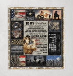 To my Daughter U.S.Army 438 Quilt Blanket