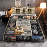To my Daughter U.S.Army 438 Quilt Bed Set