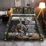 My Son, My Hero U.S. Army 437 Quilt Bed Set