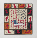 Dachshund Ametican Quilt Blanket