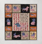 Ametican Dachshund  States Quilt Blanket 02
