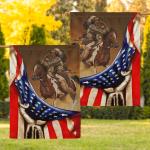 Flag Native American Warrior Eagle Flag F008