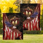 Jesus god American Eagle 011 Flag