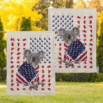 Koala Wrapped In American 29 Flag!