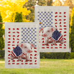 Pig Wrapped In American 25 Flag