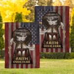 Jesus, My Lord, My God. Faith Over Fear American 05 Flag