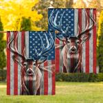 Deer American Flag