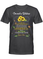I'm not a widow. I'm a wife to a husband with wings 4 T shirt