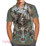 Native American Wolf Hawaii Shirt H010