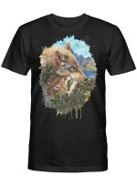 Native Mother Wolf T shirt