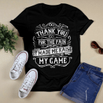 Flat Design_Thank You For the Pain T shirt