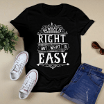 Do What is Right_White Design T shirt