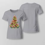 Christmas - Turlte Tree Ladies T shirt