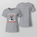 Christmas - On The Naughty List And I Regret Nothing Ladies T shirt