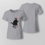 Christmas - Cat 2 Ladies T shirt