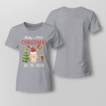Chrismas - Baby First ... On The Inside Ladies T shirt