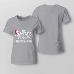 Santa's Favorite Photographer Ladies T shirt