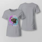 I Belive there are angels among us Ladies T shirt