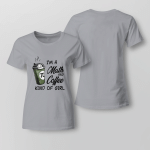 Funny - I'm a math and coffee kind of girl Ladies T shirt