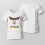 United States Navy American Eagle Veteran Ladies T shirt