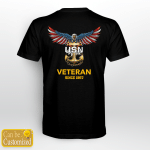 United States Navy American Eagle Custom Back Print T shirt