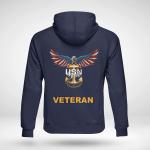 United States Navy American Eagle Veteran Back Hoodie