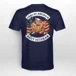Son of america - Navy veteran Back T shirt