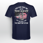You can take me out of navy but you can't take navy out of me Back T shirt