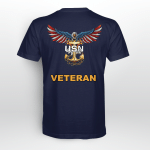 United States Navy American Eagle Veteran Back T shirt