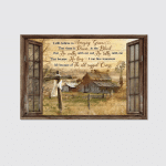 Awesome life on farm - I still believe in amazing grace Window frame -Jesus Landscape Canvas