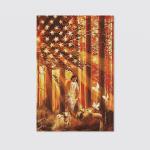 Jesus - Walking with the lambs Jesus Portrait Canvas