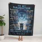 00A To my Daughter, i love you girl, love Dad Fleece Blanket