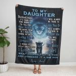 00F To my Daughter, i love you girl, love Dad Fleece Blanket