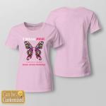 BC - I wear pink for my mom custom T shirt