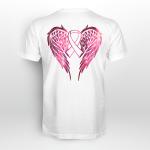 Breast awareness - Angel Wing T shirt